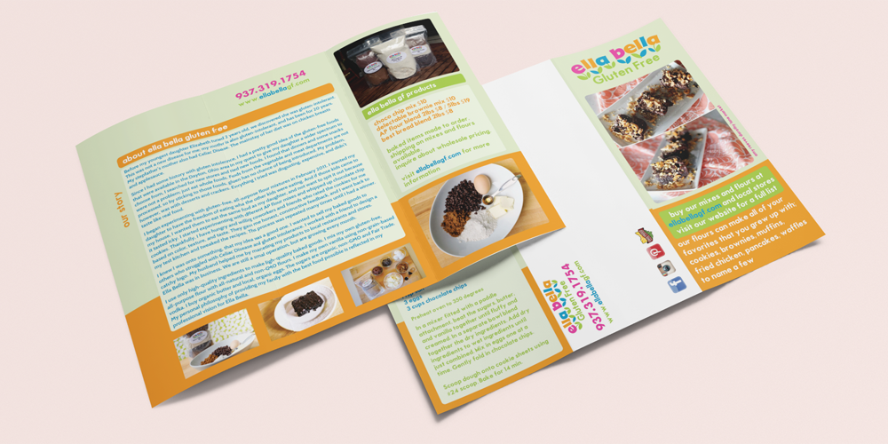 Brochure Mailer Design for Ella Bella Gluten Free in Dayton, Ohio